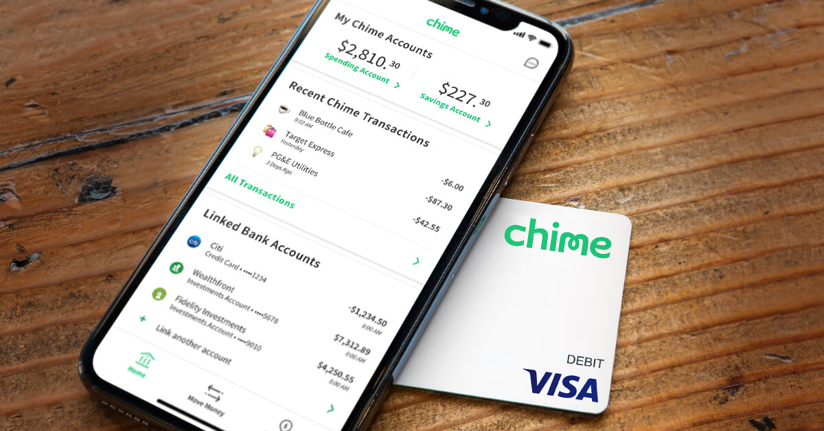 chime banking no hidden fees grow your savings automatically - Visa Debit Card App