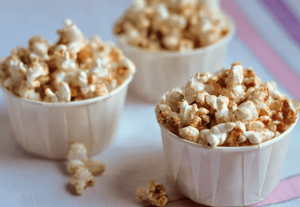 Maple-Butter Spiced Popcorn - Thanksgiving dinner on a budget