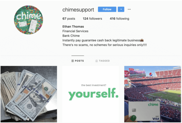 How to protect yourself from online scams chime fake support