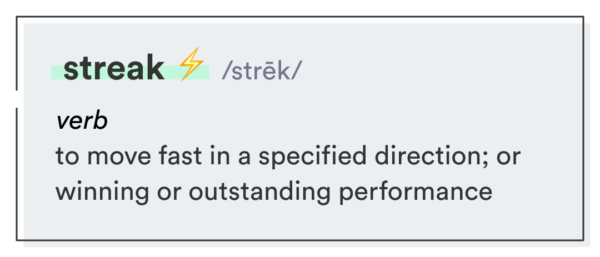 streak definition