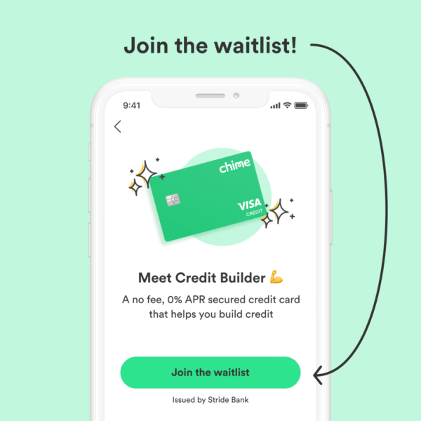 How to join Chime Credit Builder waitlist 3