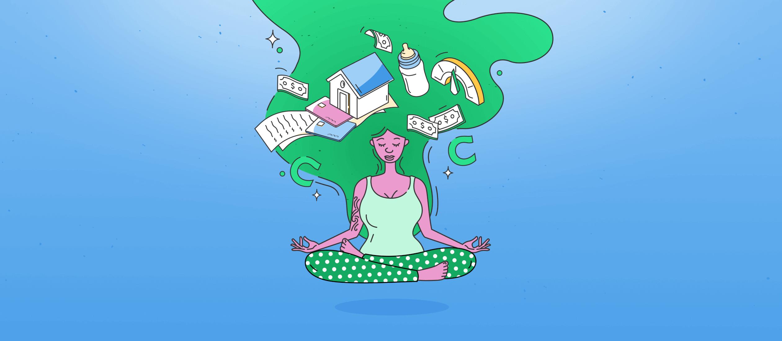 woman meditating world mental health day